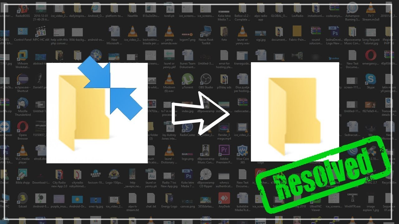 How to remove Double Blue Arrows from every icons - Windows 10 (EASY FIXED)