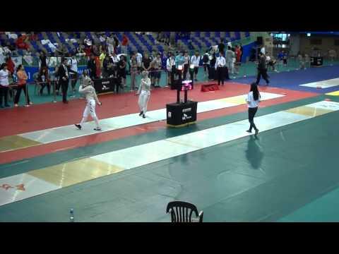 14.07.04 T08 - 김지연-Kim Ji Yeon(KOR)vs KIKUCHI Mika(JPN) - Suwon Asia Fencing Ch. WS ind. BY UnTouche