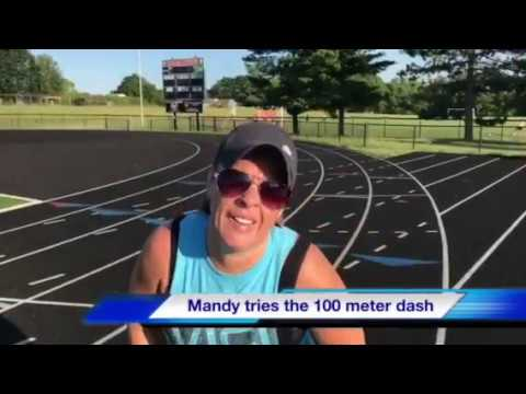 Mandy James vs Bunchie Young 100 Meter Dash