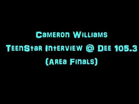 Cameron Williams TeenStar Area Finals Interview