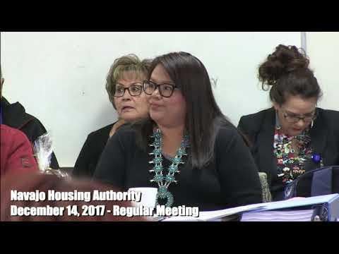 Navajo Housing Authority - Regular Meeting - December 14, 2017