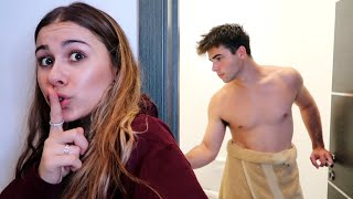 I Stayed OVERNIGHT In My BOYFRIEND'S House And He Had No Idea.. (PART 2)