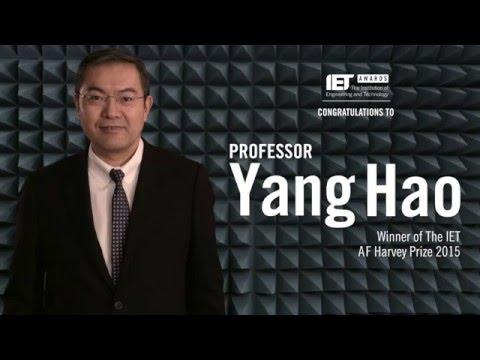 Professor Yang Hao: 2015 A.F. Harvey Prize Winner