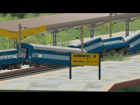 Animated Vasco Da Gama Patna Express Accident 2017 in Indian train simulator