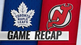 Tavares hits milestone as Leafs down Devils, 4-2