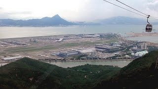 Hong Kong. The Lantau Cable Car. Ngo Ping 360. Great Views of The Airport, Island, Big Buddha