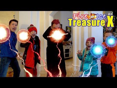 Fire vs Ice Volcano Adventure! New Treasure X Gold