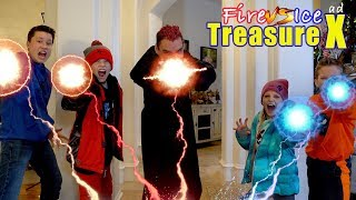 Fire vs Ice Volcano Adventure! New Treasure X Gold