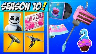 MARSHMELLO SKIN RETURNING! SEASON 10 ITEM SHOP SKINS! Fortnite Birthday Event ITEMS & NEW TRAILER!