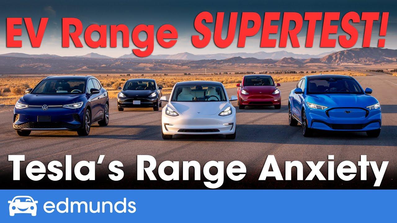 Electric Car Range | Edmunds' EV Range Super Test | Tesla Model Y & Model 3, Ford Mustang M