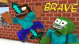 Monster School : BRAVE 2 - Minecraft animation