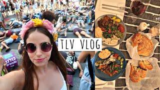 weekend vlog in tel aviv! climate strike & vegan dinner