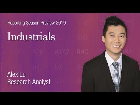 Reporting Season Preview: Industrials, Alex Lu - YouTube