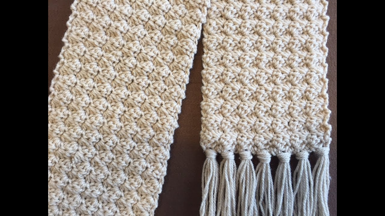 Crochet Scarf Tutorial 2018 Crochet Rose Bud Scarf One Row