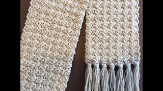 Crochet Scarf Tutorial 2018 | Crochet Rose Bud Scarf | One Row Repeat | Easy and Elegant
