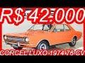 PASTORE R$ 42.000 Ford #Corcel Luxo 1974 Laranja Mandarim aro 13 MT4 FWD 1.4 76 cv 11,6 kgfm 145 kmh