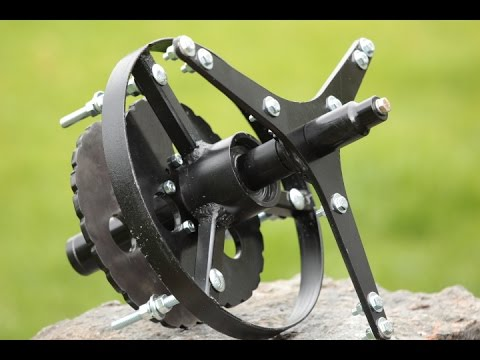 Barebones Axial Flux Wind Turbine Unit VAWT Dual Magnet by Belgrade Machine LLC