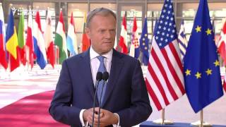Tusk 'Not Sure' He Has Same View As Trump On Russia