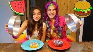 Gummy VS Real Challenge With Princess Lollipop!