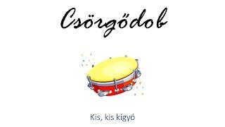 Hangszer ovi - Kis-kis kígyó (csörgődob) / Hungarian folk children song with animals