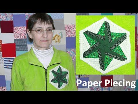 Paper Piecing Kaleidoskop nähen sechseckig