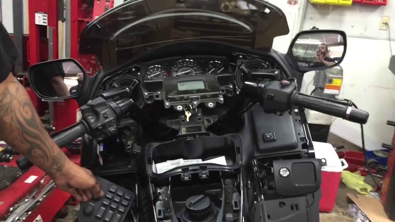 Honda Gold wing audio upgrade - YouTube
