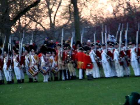 "Battle of  Lexington and Concord on Lexington Green - ""The shot heard"