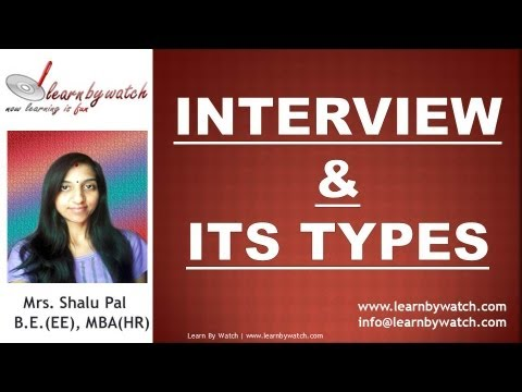 Interview and Its Types (English)