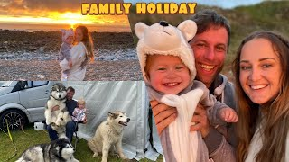 Come Camping with our van 3 Dogs And Baby!! Holiday Vlog!