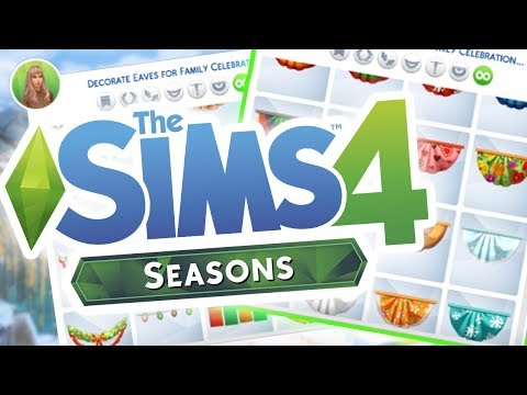 HOLIDAY HOME DECORATIONS, GIFTS & Gameplay! The Sims 4: SEASONS (How To)