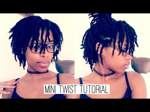 Mini Twist Tutorial On Natural 4b Medium Hair Short Hair