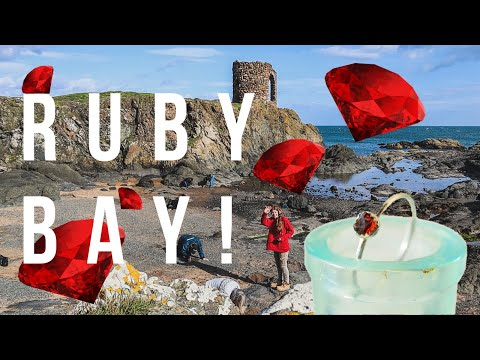 Gem hunting in Scotland for rare crystals! We find beautiful gems scattered on the beach!
