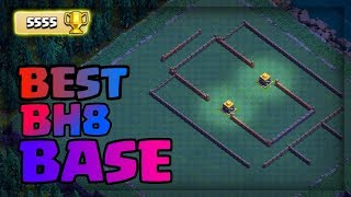 BUILDER HALL 8 BEST BASE LAYOUT W/ REPLAY PROOF | COC BH8 BEST DEFENSE BASE | CLASH OF CLANS