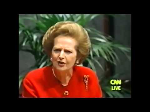 Margaret Thatcher defends the free market