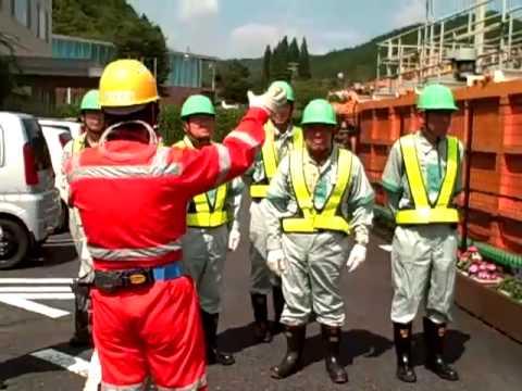 入坑前の 施設説明 安全教育