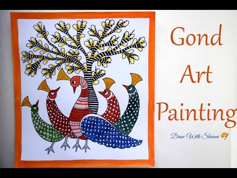 Gond Art Painting/ Indian Folk Art/ Peacock Painting using Poster Colors