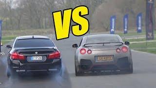BMW M5 F10 vs NISSAN GTR R35  🔥ACCELERATION SOUND😱🔥