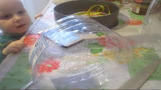 делаем из пластиковой бутылки кольцо для салатов