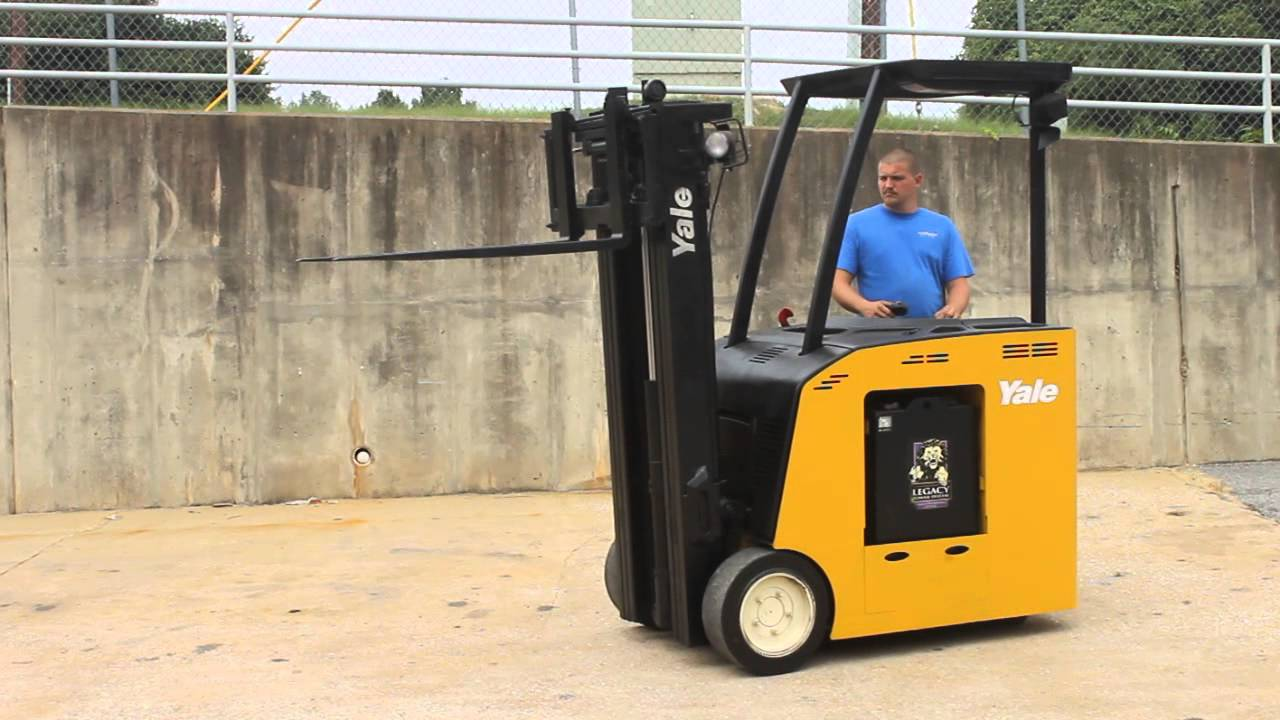 YALE STANDUP ELECTRIC FORKLIFT, - YouTube