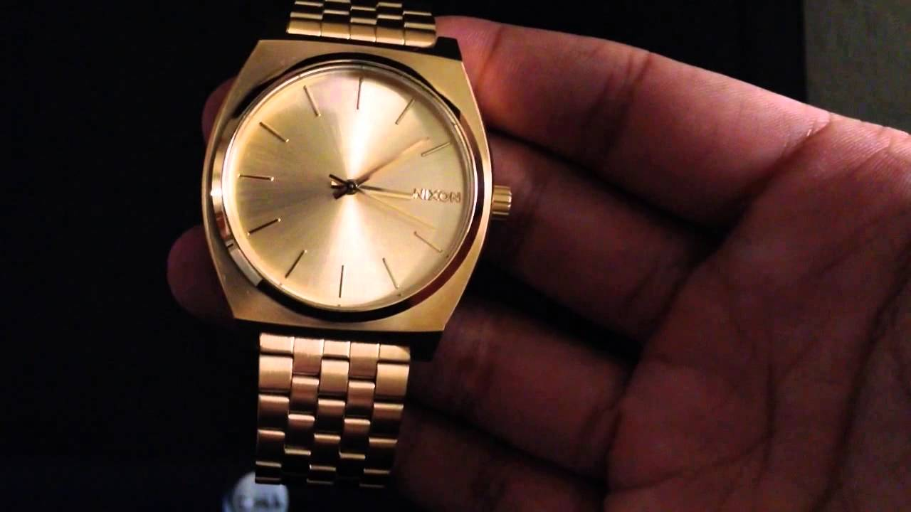 watchgold nixon watches gold blue sale time watch teller beetlepoint small