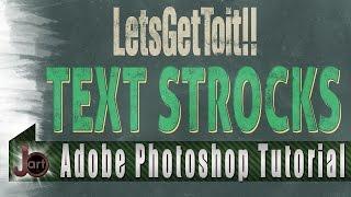 Text Stroks — Photoshop Tutorial