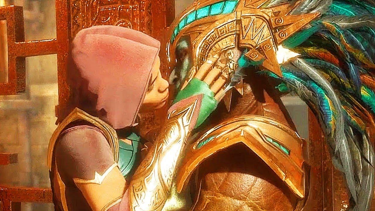 Jade Kisses Kotal Kahn Szene - Mortal Kombat 11 + video