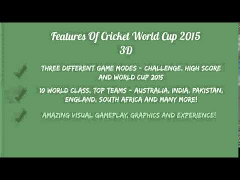 Cricket World Cup 2015 3D  1 Cricketing Game Challenge For Android