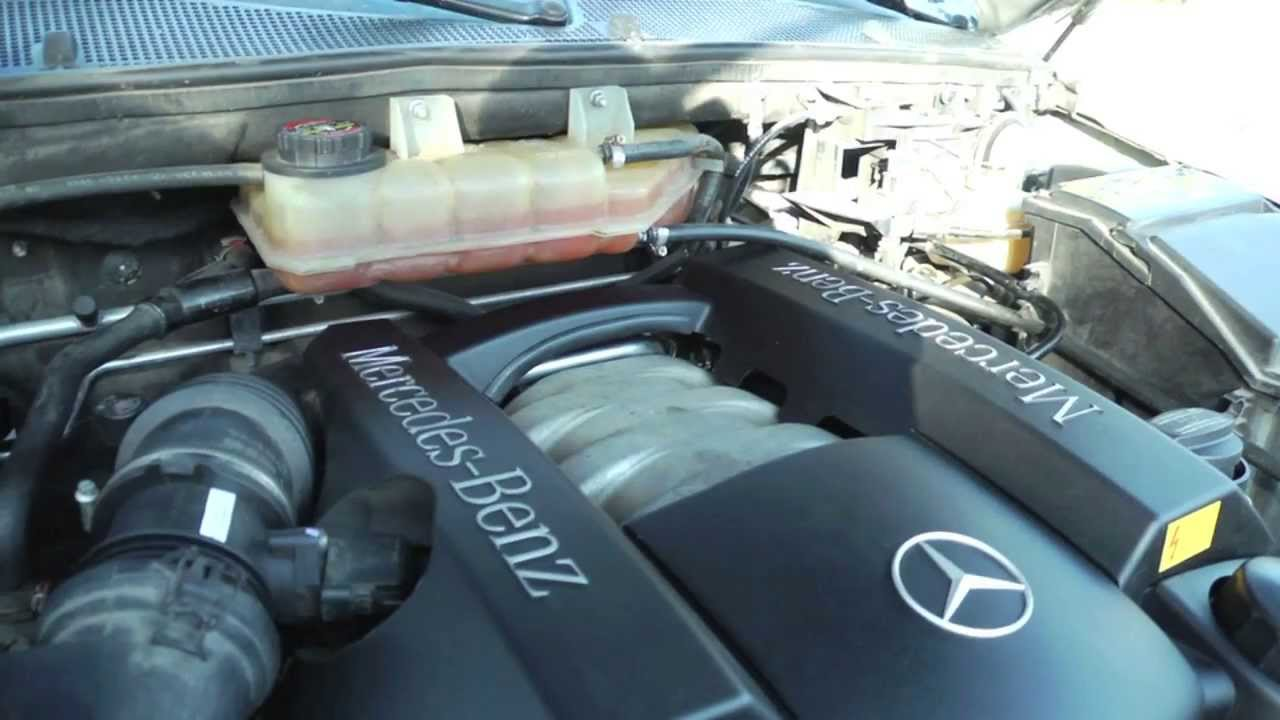 Mercedes ml320 coolant leak youtube for Mercedes benz ml500 crankshaft position sensor