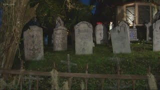Have a spooky night at Davis Graveyard