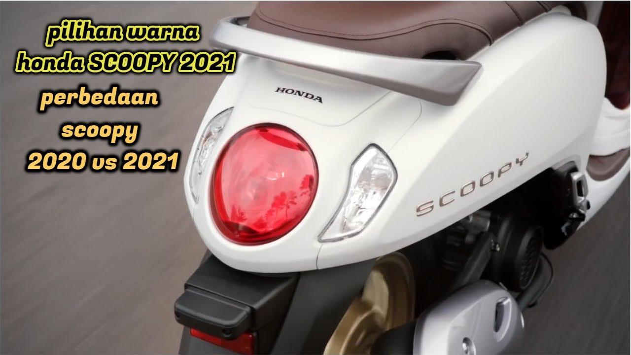 Pilihan Warna Honda Scoopy 2021 Serta Perbedaan Scoopy 2020 Vs 2021 Youtube