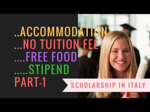 HOW TO GET SCHOLARSHIP IN ITALY PART 1