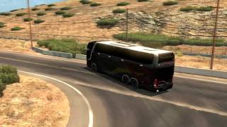 american truck simulator bus trip to oakdale with marcopolo g7 1600 ld