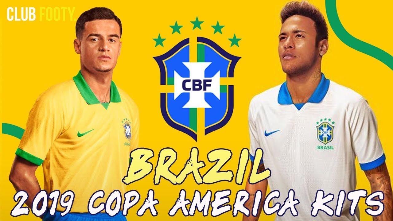 Stunning New Brazil 2019 Copa America Kits 100th Anniversary Youtube