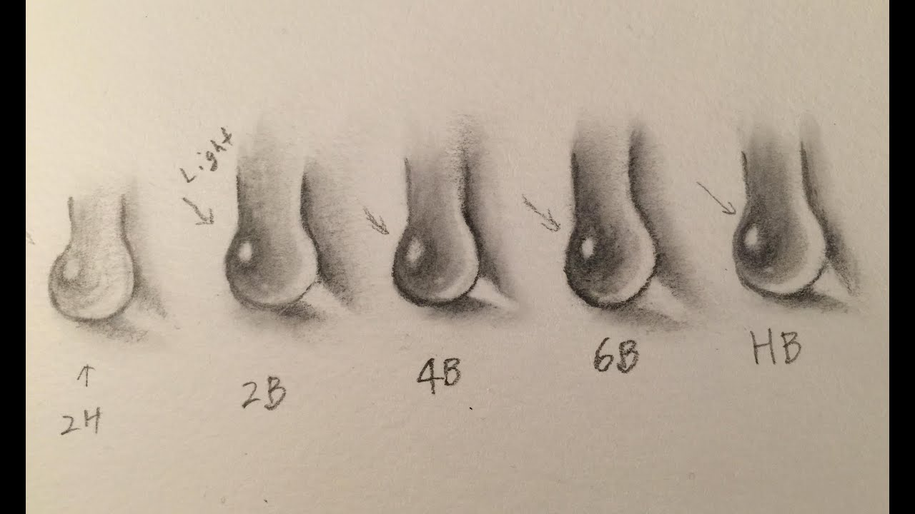 how to draw water drops and pencil lead hardness comparison youtube